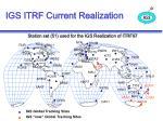 igs itrf current realization