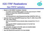 igs itrf realizations new itrf97 realization