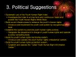 3 political suggestions
