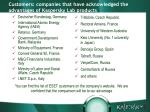 customers companies that have acknowledged the advantages of kaspersky lab products