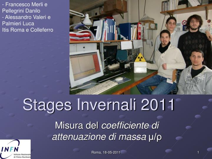 stages invernali 2011