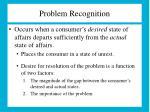 problem recognition