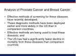analysis of prostate cancer and breast cancer