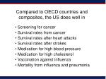 compared to oecd countries and composites the us does well in