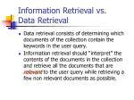 information retrieval vs data retrieval