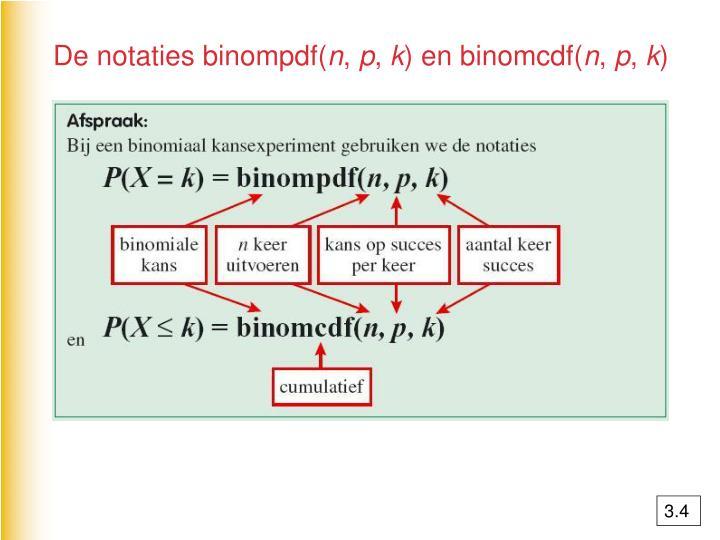 De notaties binompdf(