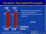 interaction atorvastatin pravastatin