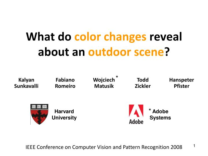 what do color changes reveal about an outdoor scene n.