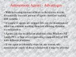 autonomous agents advantages1