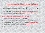 homomorphic encryption scheme