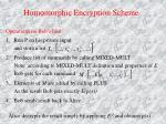 homomorphic encryption scheme1