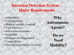 intrusion detection system major requirements