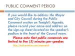 public comment period1