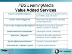 pbs learningmedia value added services