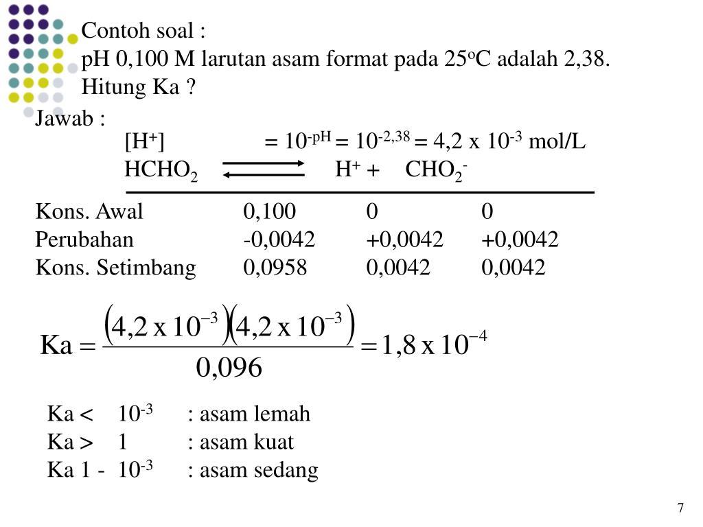 25++ Contoh Soal Menghitung Ph Campuran Asam Lemah Dan Basa Kuat - Kumpulan Contoh Soal