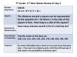 7 th grade 2 nd nine weeks review 1 day 3