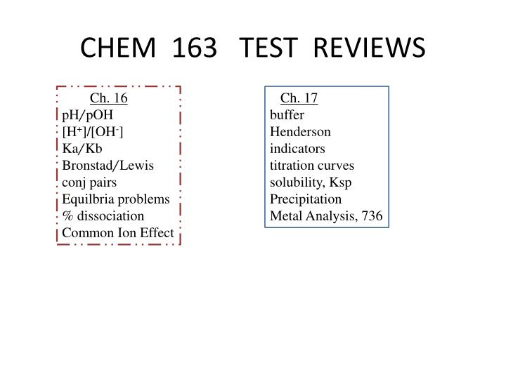 chem 163 test reviews n.