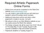required athletic paperwork online forms