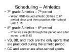 scheduling athletics