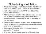 scheduling athletics1