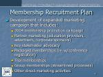 membership recruitment plan