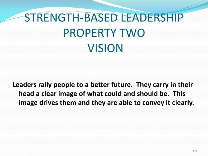 strength based leadership property two vision n.