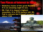 two places of interest in japan