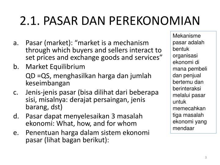 2 1 pasar dan perekonomian