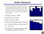 matlab histograms