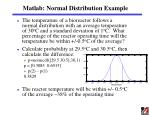 matlab normal distribution example