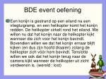 bde event oefening