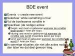 bde event