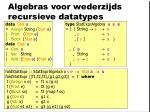 algebras voor wederzijds recursieve datatypes