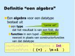 definitie een algebra