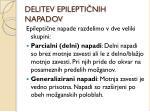 delitev epilepti nih napadov
