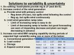 solutions to variability uncertainty1