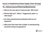 issues in establishing global supply chain strategy1