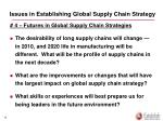 issues in establishing global supply chain strategy2