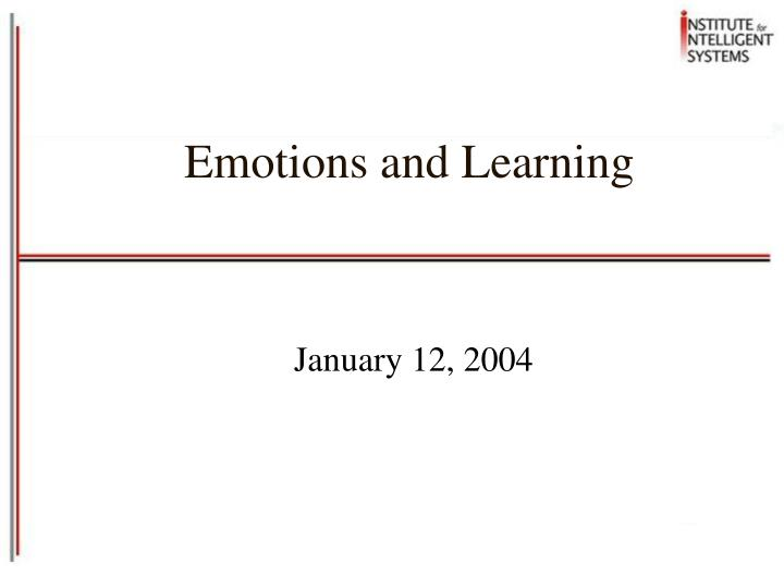 emotions and learning n.