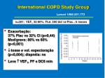 international copd study group