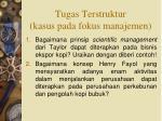 tugas terstruktur kasus pada fokus manajemen