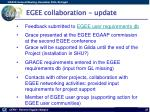 egee collaboration update