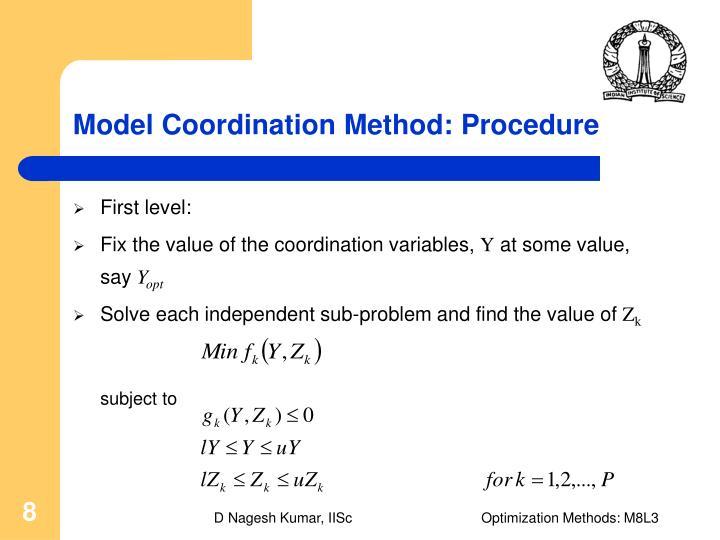 Model Coordination Method: Procedure