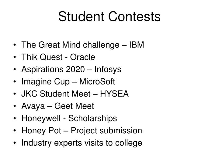 student contests n.
