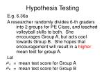 hypothesis testing19