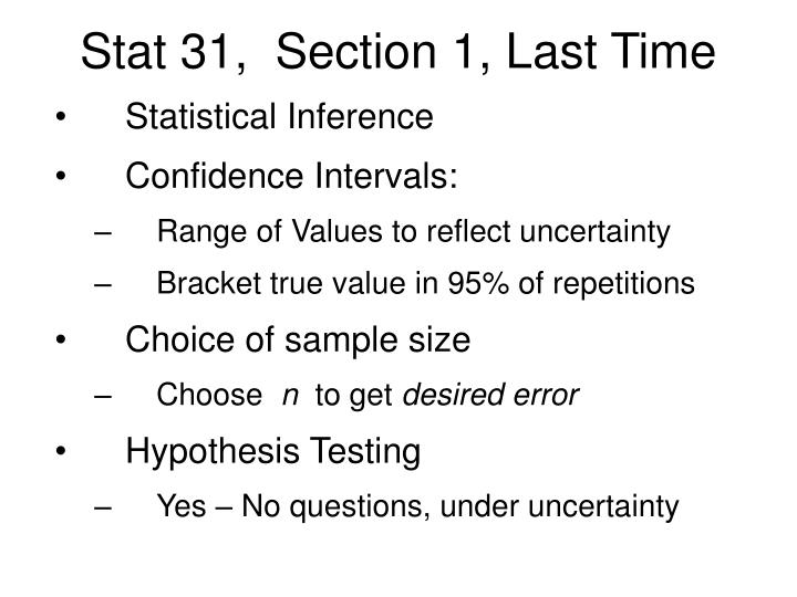 stat 31 section 1 last time n.