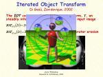 iterated object transform di ges zavidovique 2002