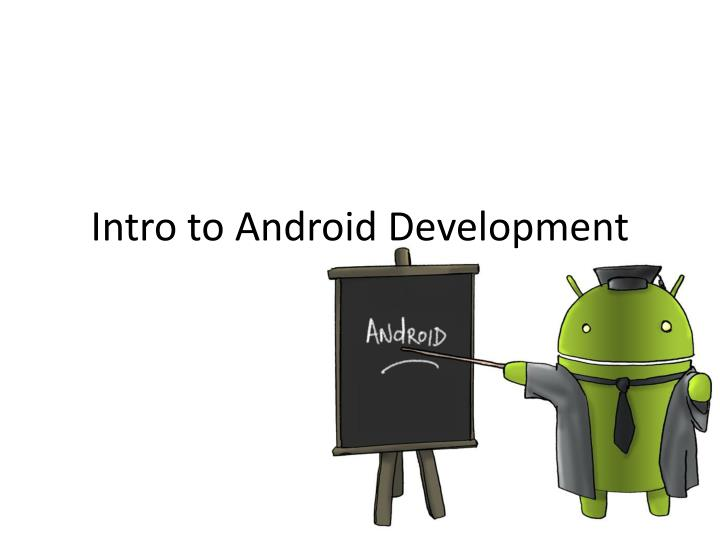 intro to android development n.