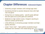 chapter differences achievement chapters