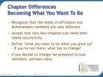 chapter differences becoming what you want to be